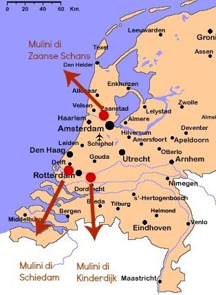 Olanda Cartina Fisica.I Mulini A Vento Come Funzionano E Quali Visitare In Olanda