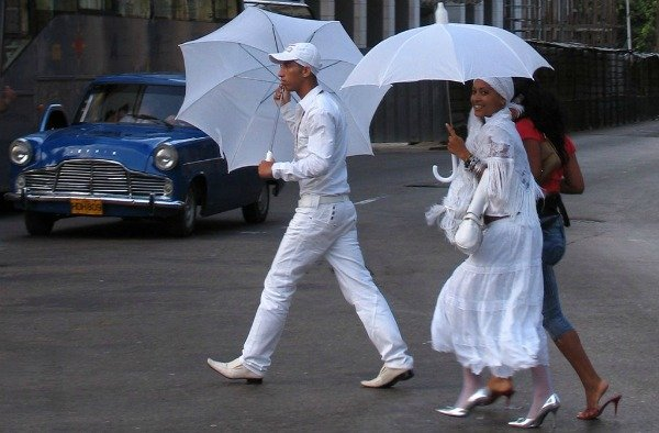 Santeros-in-Cuba