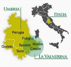 Dov'è la Valnerina - mappa