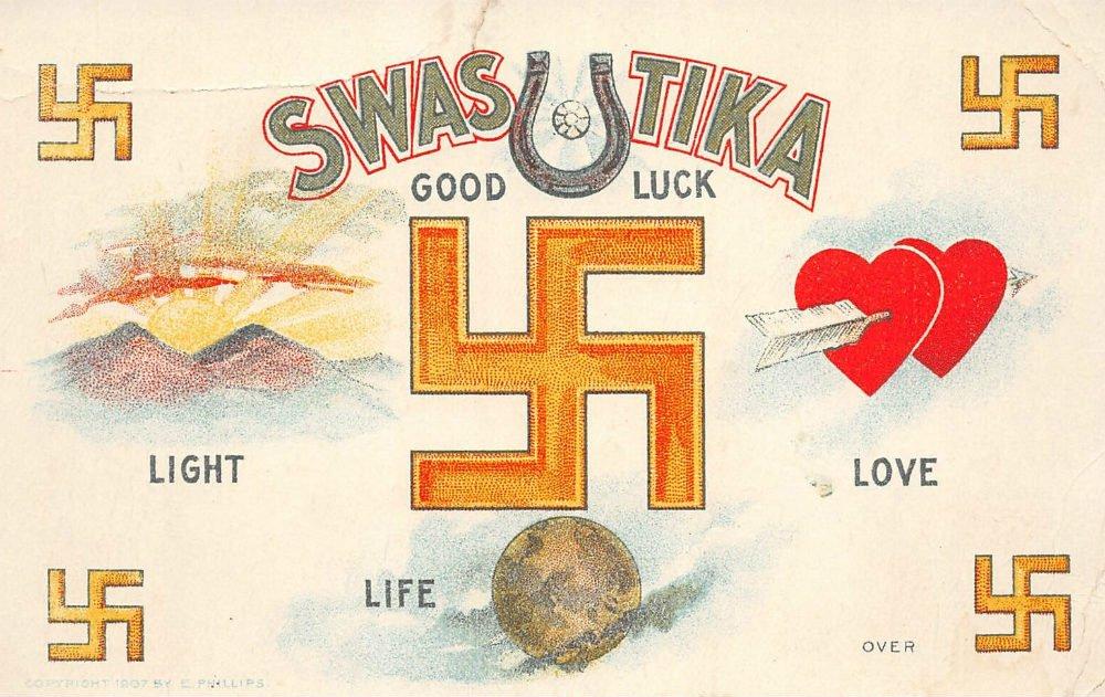Caratolina di buon augurio con Svastika