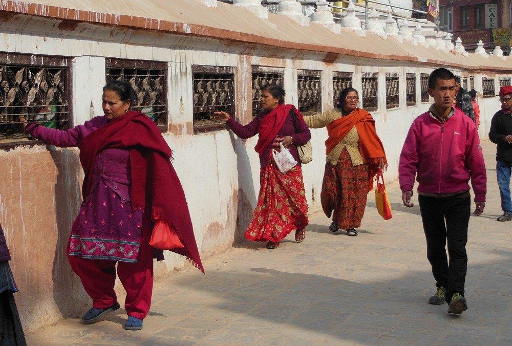 Ruote di preghiera Bodhnat Kathmandu