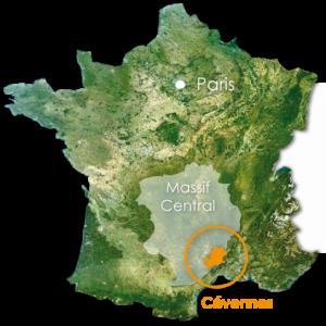 Francia Mappa Cevennes