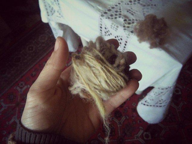 Gomitolo di lana filata