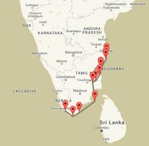 Itinerario India del Sud Tamil Nadu