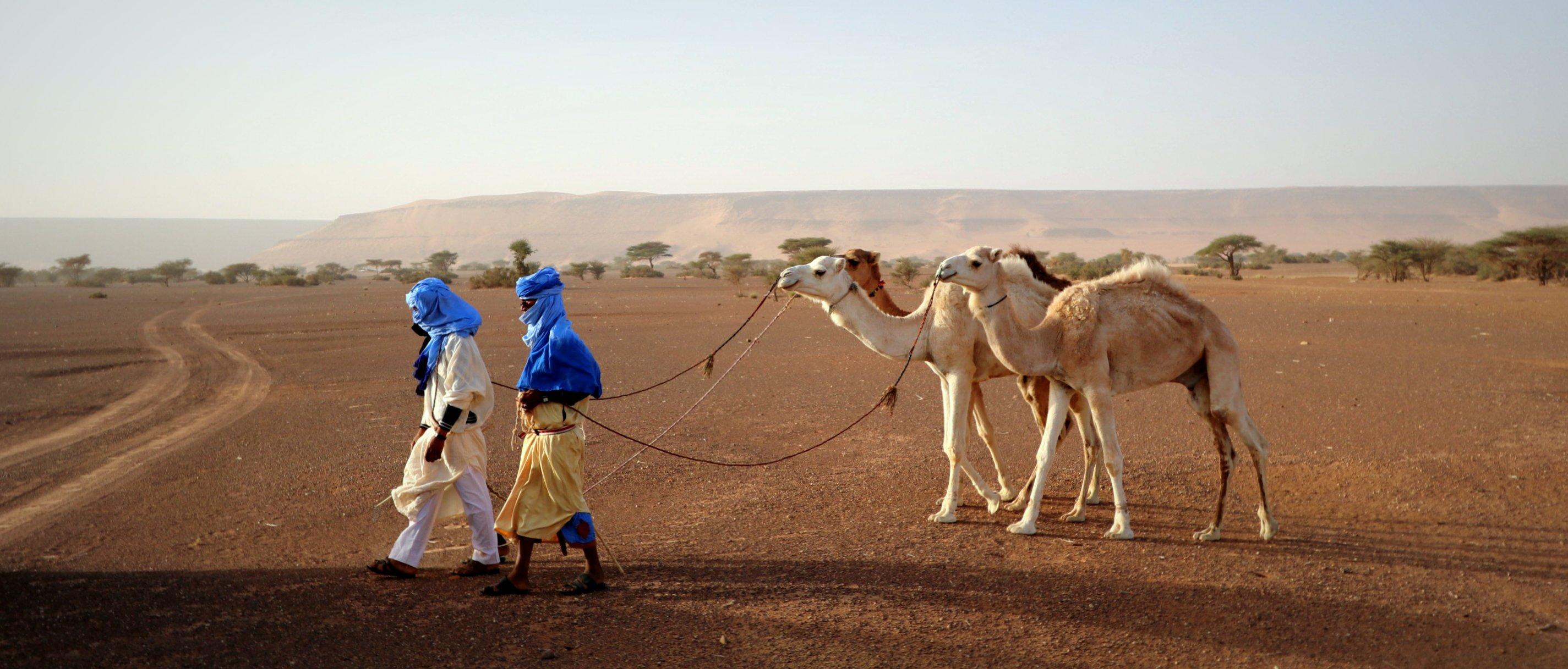 Nomadi nel deserto del Sahara