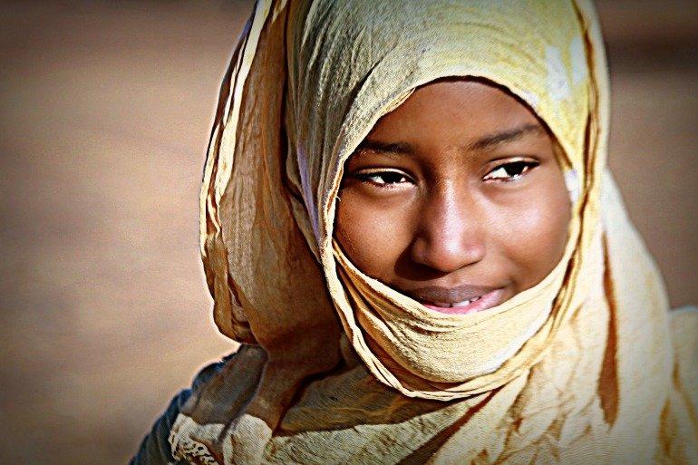 Viso di donna nomade