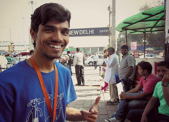 Delhi ex bambino di strada India