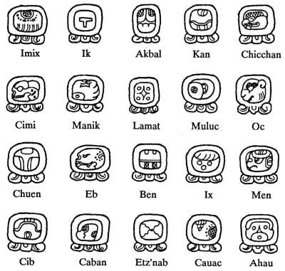 20 nawales maya