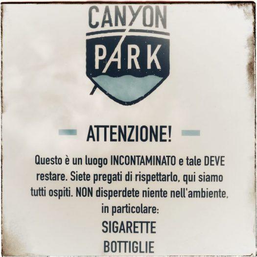 Regolamento Canyon Park Lucca
