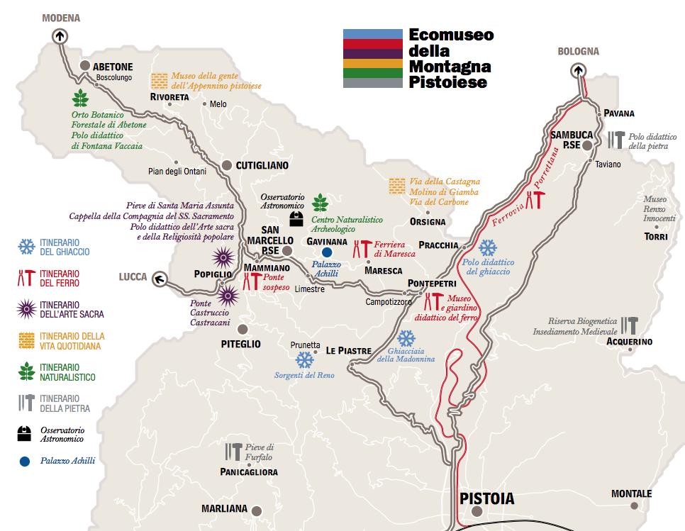 itinerari ecomuseo montagna pistoiese