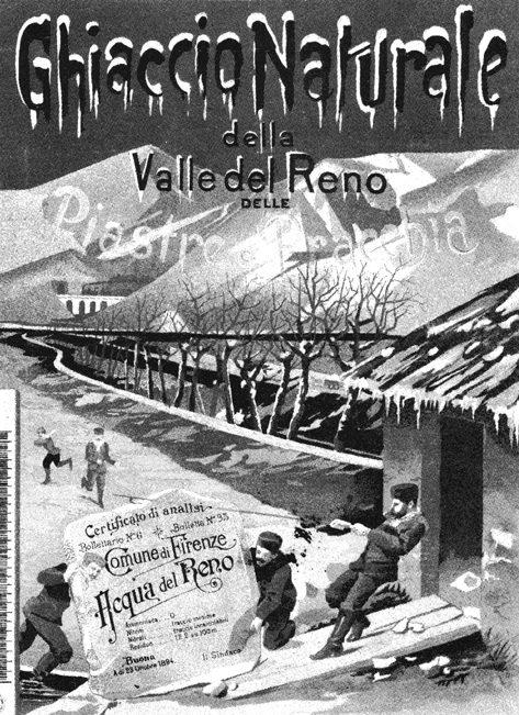 commercio del ghiaccio Pistoia foto storica