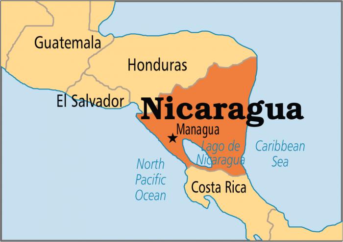 Nicaragua mappa