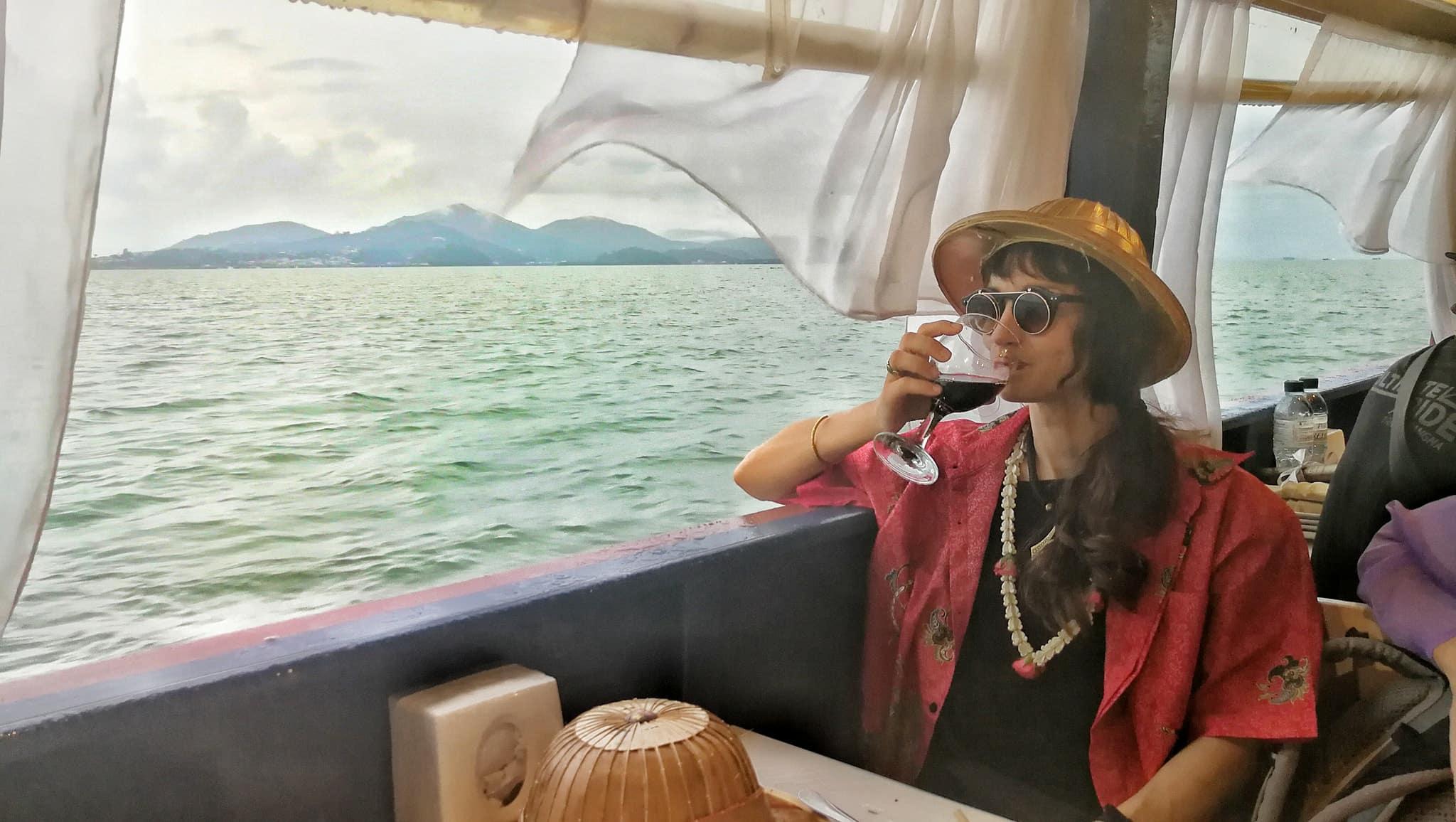 Io in barca ROyal Andamane