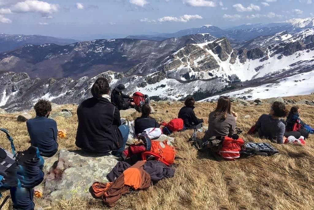Escursionisti sul Marmagna