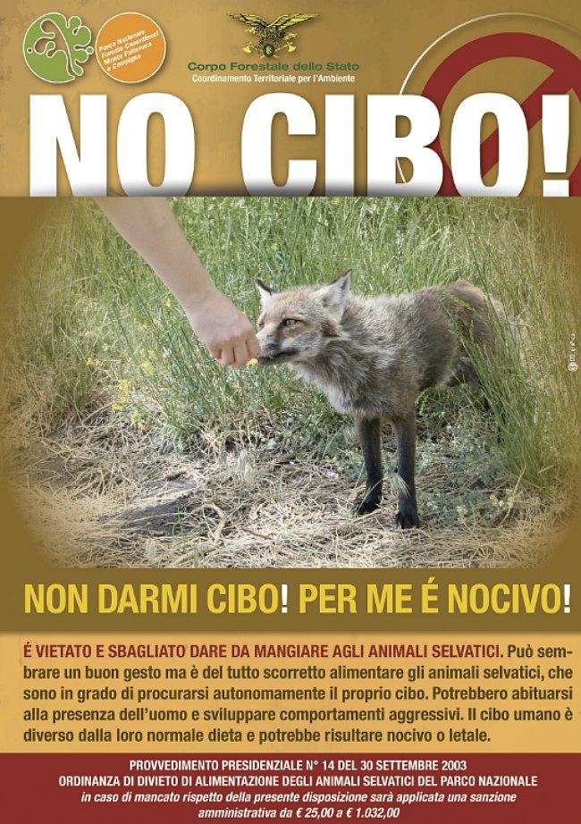 Non date da mangiare agli animali selvatici - Corpo forestale dello Stato
