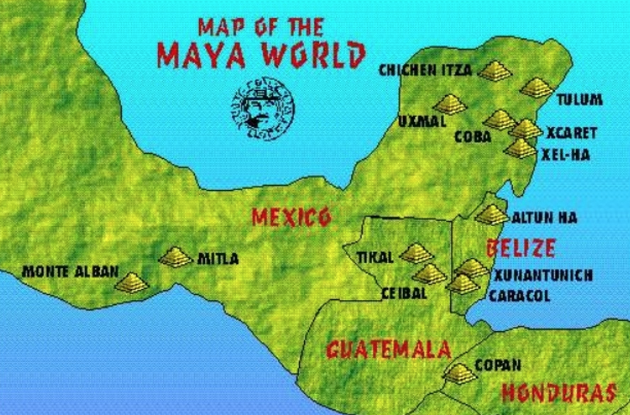 Mappa del mondo maya
