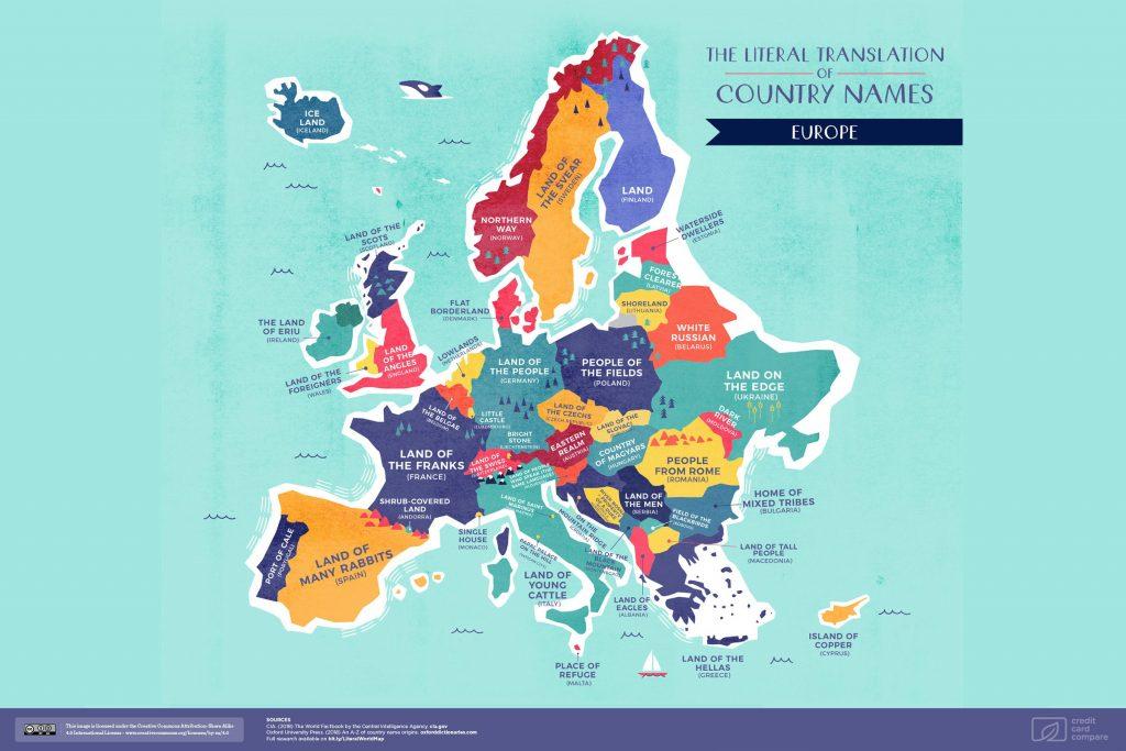 Etimologia degli stati europei