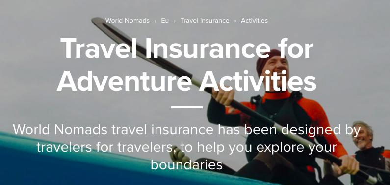 Assicurazione Viaggi Avventurosi