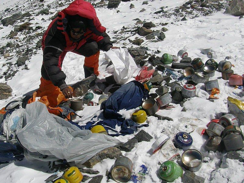 Tonnellate di rifiuti Everest