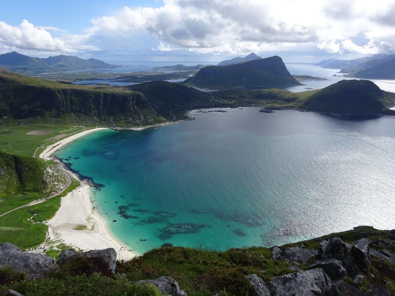 Spiaggia di Haukland, LOFOTEN, NORVEGIA