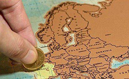 Cartina Geografica Per Segnare Luoghi Visitati.10 Regali Per La Casa Del Viaggiatore